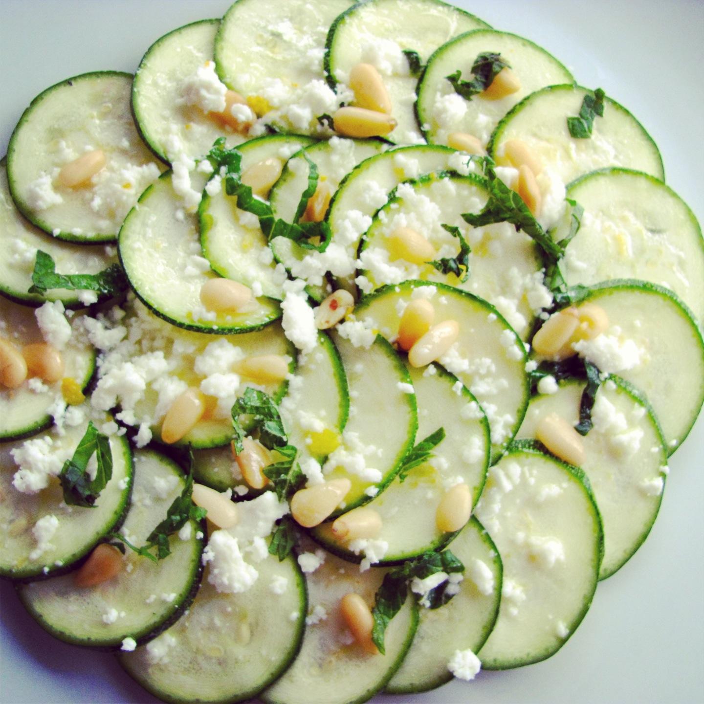 Zucchini Carpaccio / Carpaccio de Courgette   Little Miss Parsley