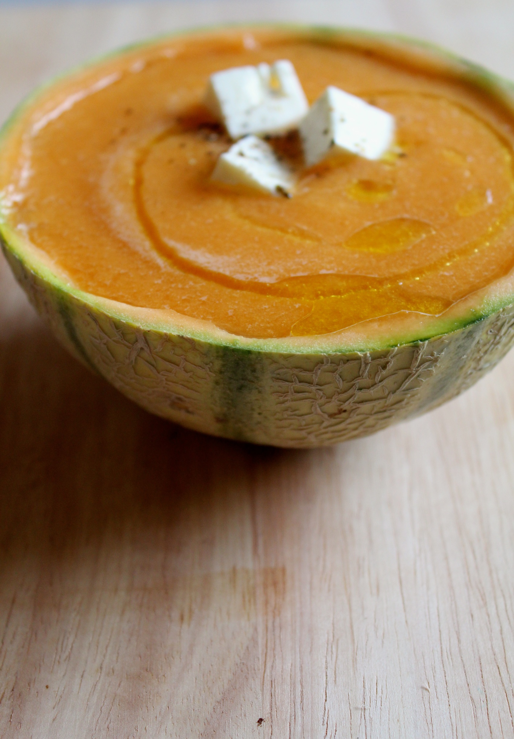 Roasted Yellow Pepper and Melon Soup with Feta / Soupe de Melon et ...